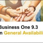 SAP Business One 9.3 est maintenant disponible!