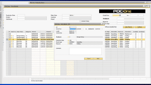 pdc-one production time details tracking