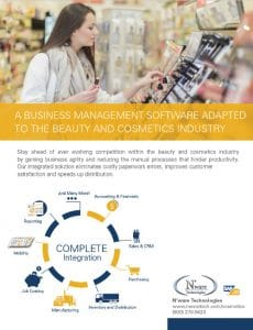 ERP specialized for the Cosmetic and Beauty industry
