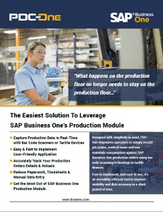 PDC-One module for SAP Business One