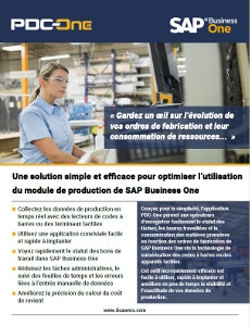 Module PDC-One pour SAP Business One