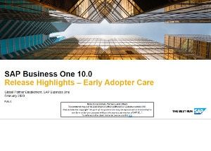 SAP Business One version 10.0 highlights